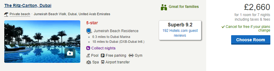 Price of a Week at The Ritz Carlton Dubai   The Vacation Builder