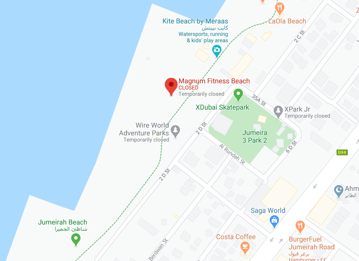 Location of Magnum Fitness Outdoor Gym