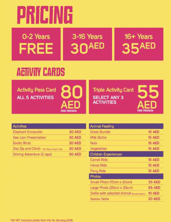 Emirates Park Zoo Prices   Things to do with Kids in Dubai