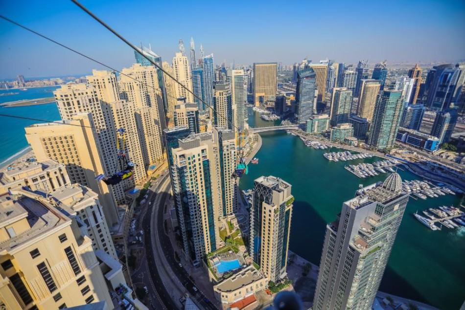What is in Dubai Marina Mall - Zip Lining| The Vacation Builder