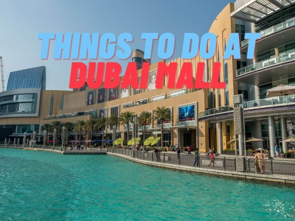Things to do at Dubai Mall | The Vacation Builder