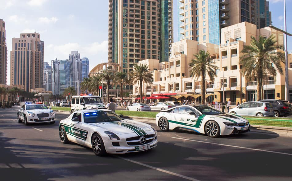 Where to see Supercars in Dubai - Police Cars   The Vacation Builder