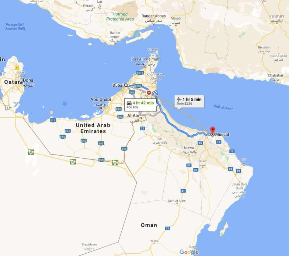 Distance from Dubai to Muscat - Dubai vs Muscat for a Vacation | The Vacation Builder