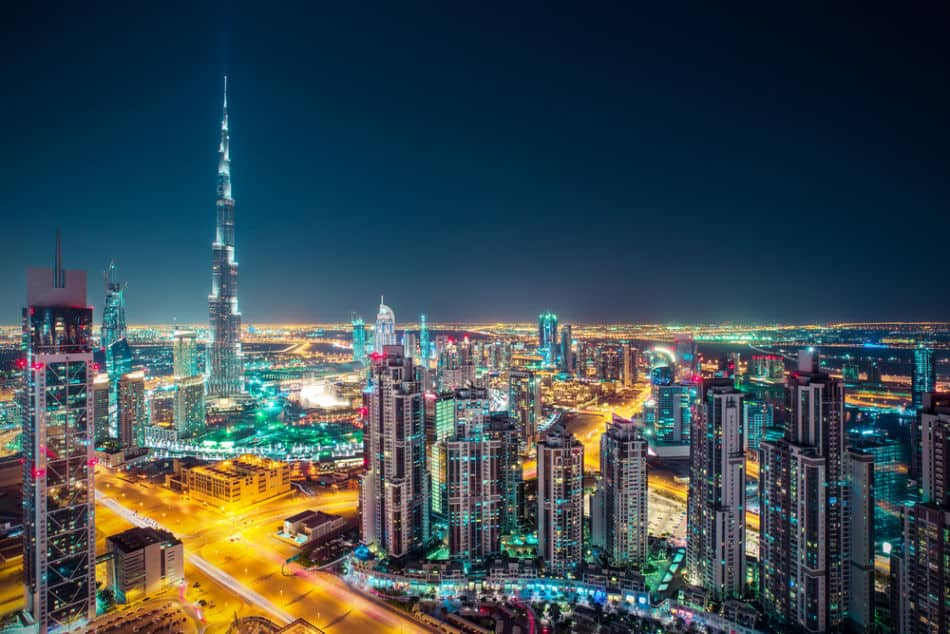 Skyline of Dubai from the Rooftop Looking into Downtown Dubai | The Vacation Builder