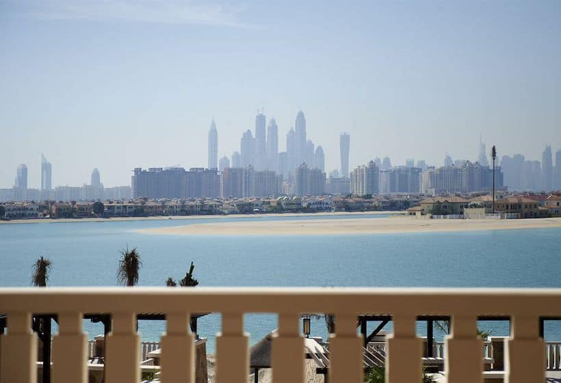 A View of Dubai From Sofitel The Palm Balcony | The Vacation Builder