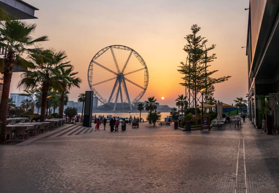 Best Places to Watch Sunrise in Dubai - Bluewaters Island | The Vacation Builder