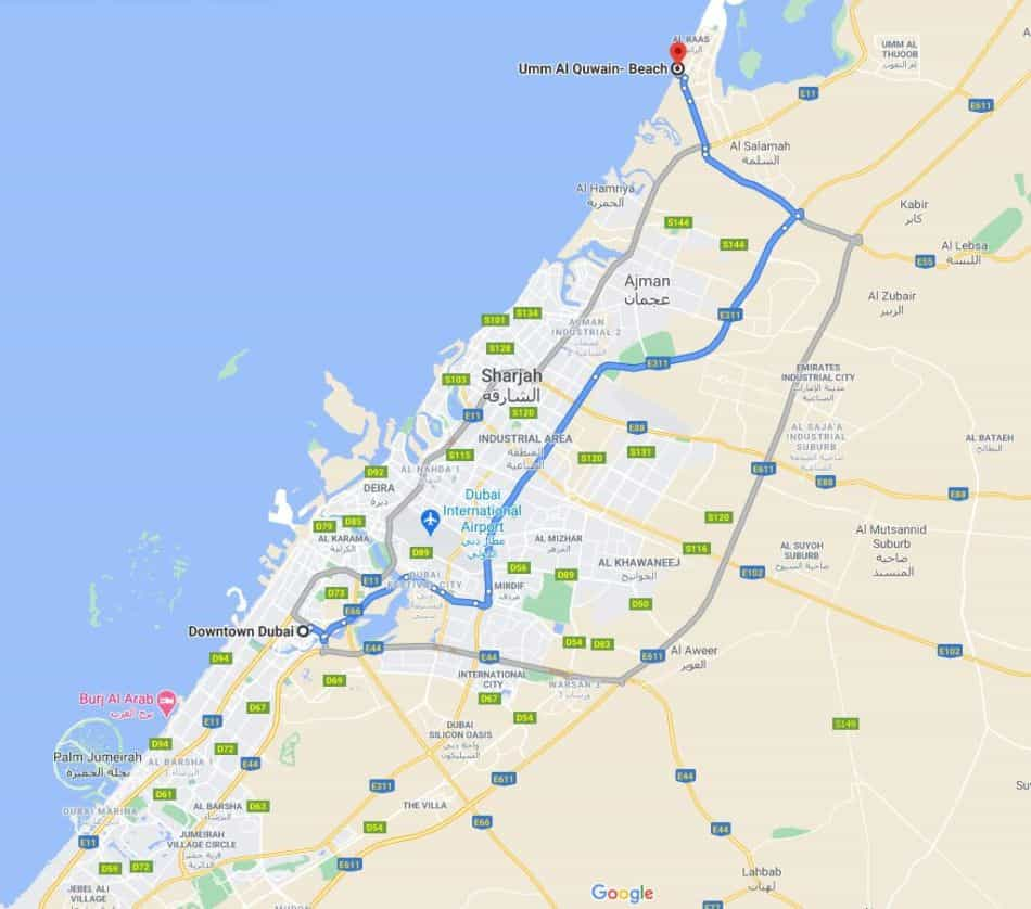 How to Get to Al Quwain Beach From Dubai | The Vacation Builder