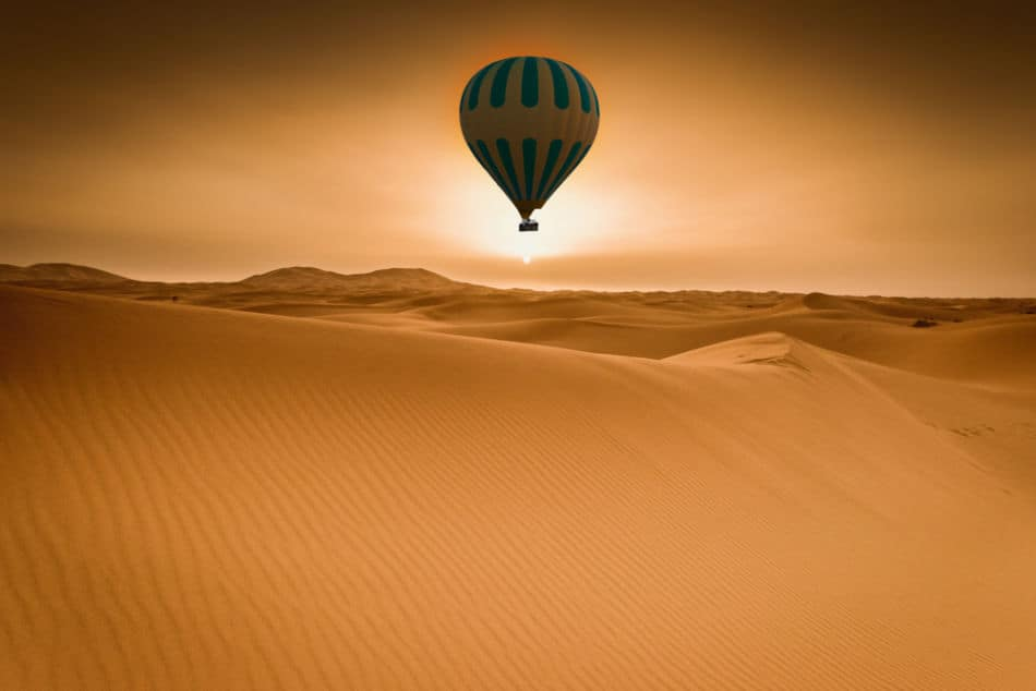 Best Places to Watch Sunrise in Dubai - Hot Air Balloon | The Vacation Builder