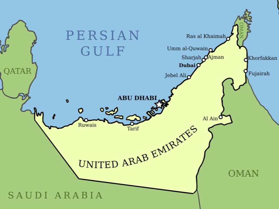 Dubai or Fujairah for a Vacation - Map of the UAE - Locations  The Vacation Builder