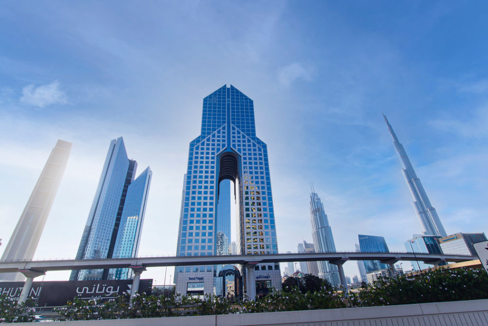 Famous Buildings in Dubai   #5 Dusit Thani Hotel   The Vacation Builder